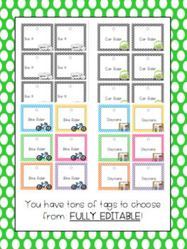 How Do We Go Home? Transportation Display and Tag BUNDLE {B/W and Color}