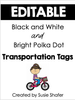 How Do We Go Home? Transportation Tags {B/W and Color Polka Dots}