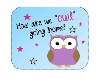 "How Do We ""OWL"" Go Home? Dismissal Chart"