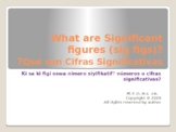 What are Significant Figures -in 3 languages!