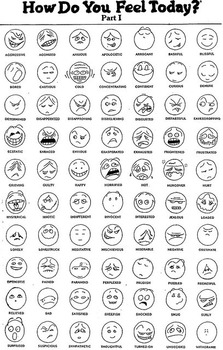How Do You Feel Today? Autism Feelings Chart Icon/Nonverbal
