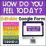 How Do You Feel Today? Google Form