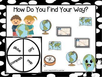 How Do You Find Your Way?:  NO PREP Geography Tool Spin and Cover Game