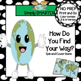 How Do You Find Your Way?:  NO PREP Geography Tool Spin an