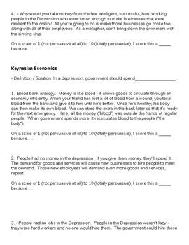 How Do You Fix a Depression?  Keynesian Economics vs. Classical Economics