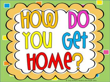 How Do You Get Home? A Bulletin Board Freebie
