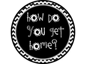 How Do You Get Home Black and White Chevron