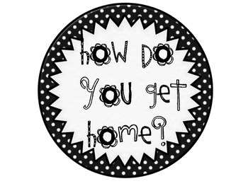 How Do You Get Home Black and White Polka Dots