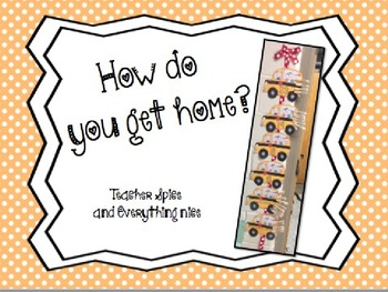How Do You Get Home? Clip Chart {EDITABLE}