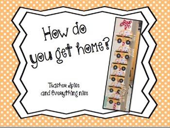 How Do You Get Home? Clip Chart {EDITABLE}