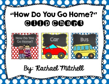 How Do You Get Home? Clip Chart- Primary Polka Dots and Ch