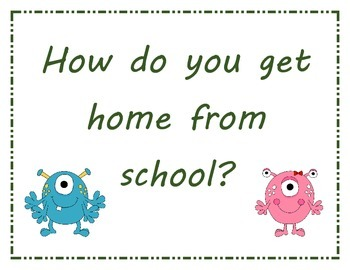 How Do You Get Home for School Monster Posters