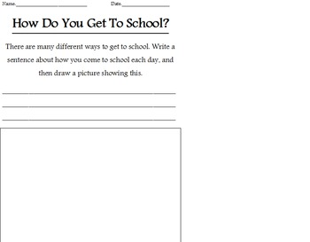 How Do You Get To School? Worksheets