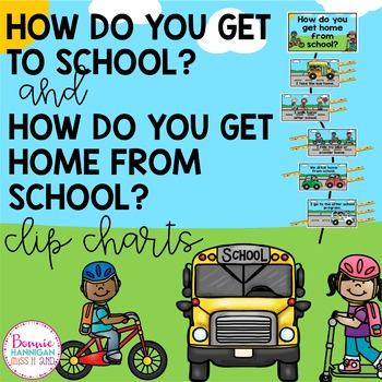 How Do You Get To and From School Clipcharts