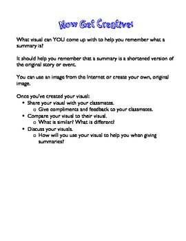 How DO You Give a Summary?
