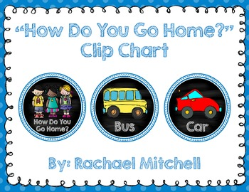 How Do You Go Home? Clip Chart- Blue and Chalkboard