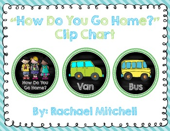 """How Do You Go Home?"" Clip Chart- Chalkboard Themed"