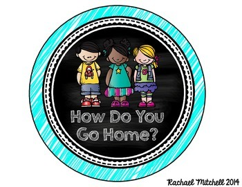 How Do You Go Home? Clip Chart- Neon and Chalkboard