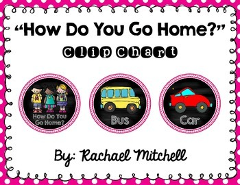 How Do You Go Home? Clip Chart- Pink and Chalkboard