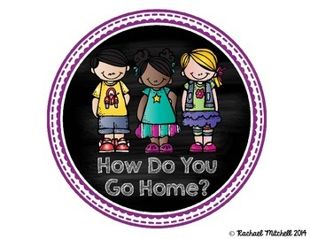 How Do You Go Home? Clip Chart- Purple and Chalkboard