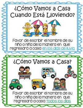 How Do You Go Home?: file folder system (in Spanish)
