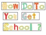 How Do You Go To School Graph & Data Analysis Sheet