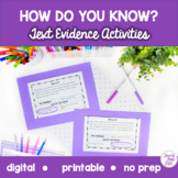 How Do You Know? Text Evidence Boom Cards™️