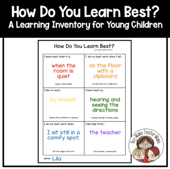 How Do You Learn Best? A learning Inventory for Young Children