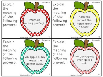 How Do You Like Them Apples Idioms And Proverbs Pack By Lindsey Karol