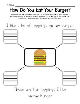 How Do You Like Your Food: Adding Details to Writing