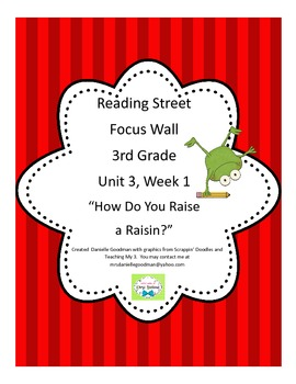 How Do You Raise a Raisin? Focus Wall Reading Street, Grade 3 CC 2013
