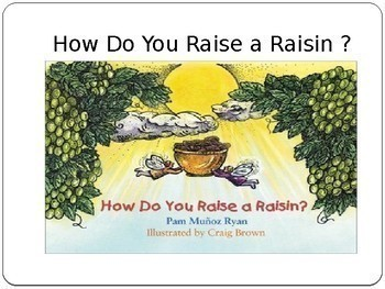 How Do You Raise a Raisin PowerPoint Reading Street Unit 3 Day 1 Through Day 4