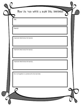 How Do You Write a Main Idea Sentence? 1