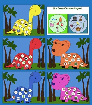 How Does A Dinosaur Rhyme? Rhyming Activities, Centers, and Worksheets