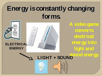 How Does Energy Change Form - Energy Conversions Powerpoint