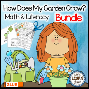Garden Math and Literacy, Garden Activities Bundle, Garden Unit, Plants Theme