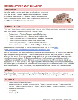 How Does Venom Affect the Human Body? NGSS 5E Lesson