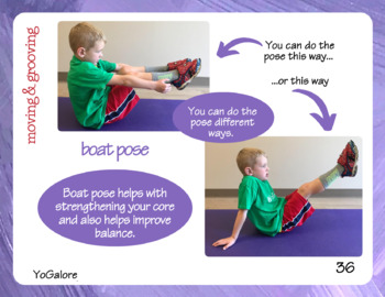 Yoga Pose of the Week Poster with Yoga Card Set