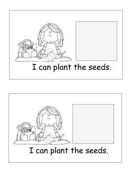 Garden Emergent Reader, Cut and Paste, Garden Themed, Activities Reader