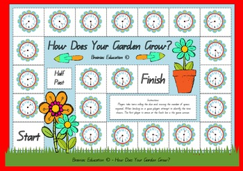 How Does Your Garden Grow Half Hour Times Board Game