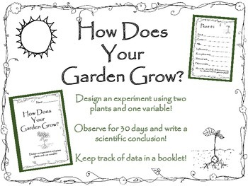 How Does Your Garden Grow? Long Term Plant Observation Booklet