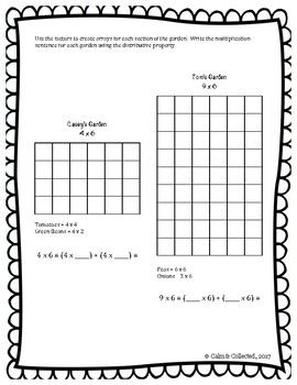 How Does Your Garden Grow--Multiplication Using the Distributive Property