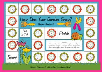 How Does Your Garden Grow Quarter Past and Quarter To Times Board Game