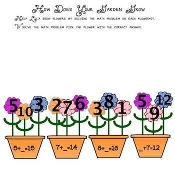 How Does Your Garden Grow - SMART Board Activity