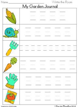 How Does Your Garden Grow? Write / Stamp the Room Activity Pack