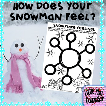 How Does Your Snowman Feel:  Coloring, and Writing Sheets