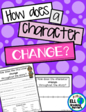 How Does a Character Change? Graphic Organizer, ELL Friend