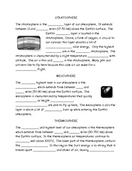 How Does the Atmosphere Relate to Weather Note Taking Guide