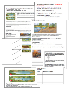 How Ecosystems Change: Primary and Secondary Succession