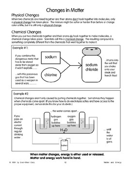 How Energy Affects Matter